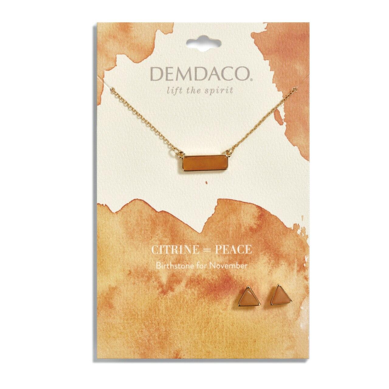 Necklace & Earring Set-November