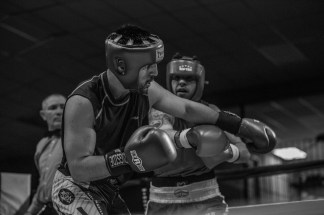 Judgement Night - Fernie Community Centre Boxing Charity Event In Aid of Smiles for Shyanne - 7th February 2015 - Devin Laurent Vs Amrit Dulla