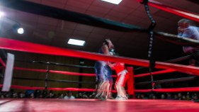 Judgement Night - Fernie Community Centre Boxing Charity Event In Aid of Smiles for Shyanne - 7th February 2015 - Emma VT Vs Raimey Z
