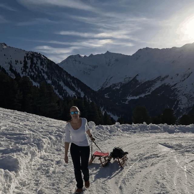Tobogganing in stubai valley