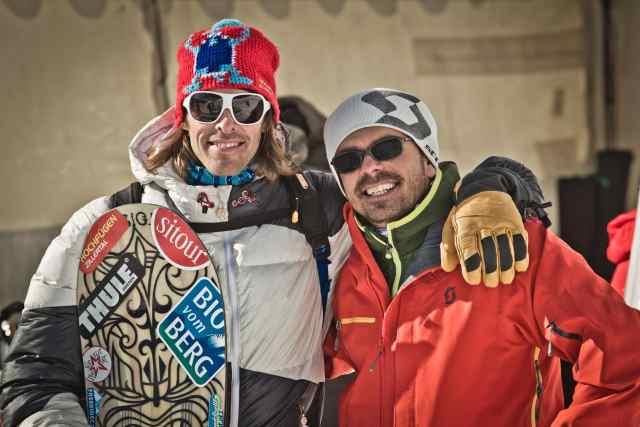 Freeride Profi Flo Orley mit Markus Kogler (Kogsi), Mogasi