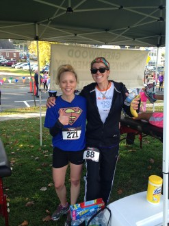 With my PT Karen Constantine. She was a miracle worker for me after my transplant. This was my 4th 5k since transplant in 33:49.