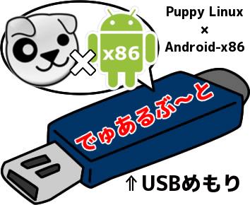 USBデュアルブート_PuppyLinux&android-x86