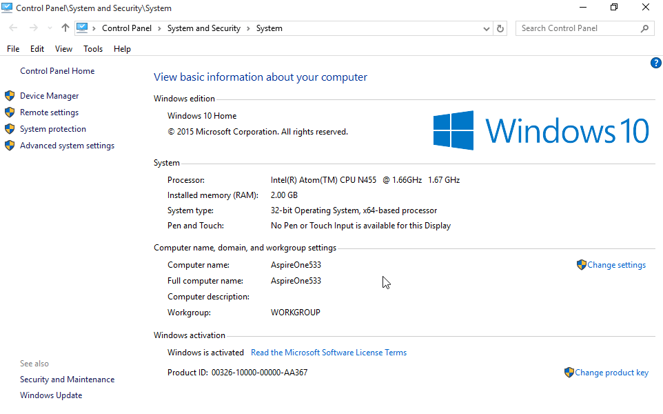 Acer-AspireOne533_Win10_System01