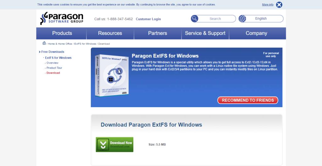 Paragon Paragon ExtFS for Windows   Download