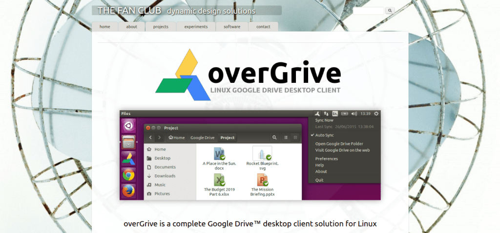 overGrive   Linux Google Drive Desktop Client   The Fan Club   dynamic design solutions