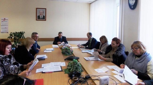 Заседание Президиума Могилёвского областного комитета Белорусского профсоюза работников местной промышленности и коммунально-бытовых предприятий 21 апреля 2017 года