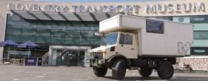 Mercedes Unimog truck camper, suitable for overland expedition travel.