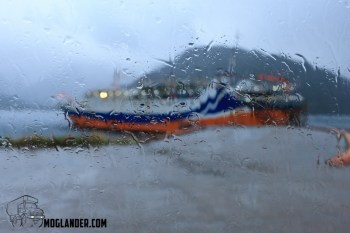 This is the weather we wanted to get away from. Waiting for the ferry at Chacabuco