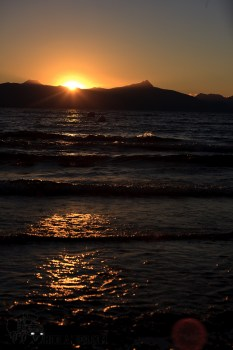 Sunrise over lake Llanquihue