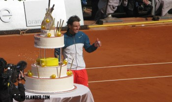 Rafa celebrating being 27 years old on Phillippe Chartier court in Roland Garros