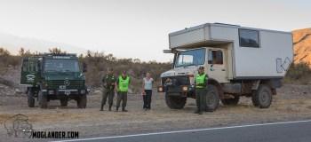 Argentinian police unimog with unimog camper