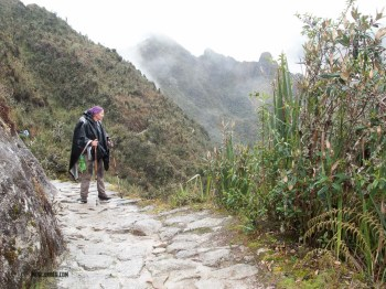 Sarah checking out the view on the Inka Trail