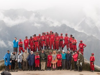 One of our rare chances to take a photo with all of our Porters
