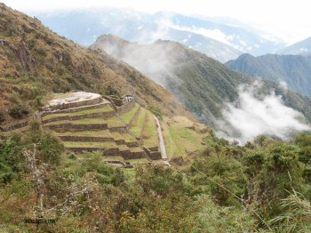 When the fog and clouds cleared, you could see anything. This was an outpost of Machu Picchu.