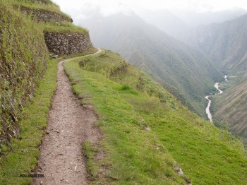 This trail went through some terraces used for agriculture.