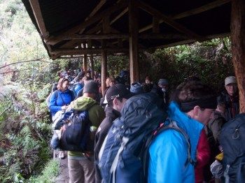 The queue to get into Machu Picchu started at 4am. No kidding!