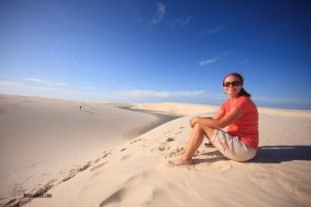 Sarah on the Dunes