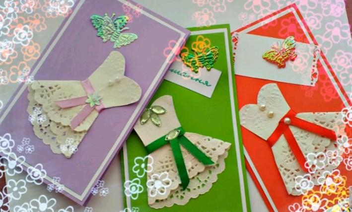 Самодельные открытки для мамы на 8 марта, сделать