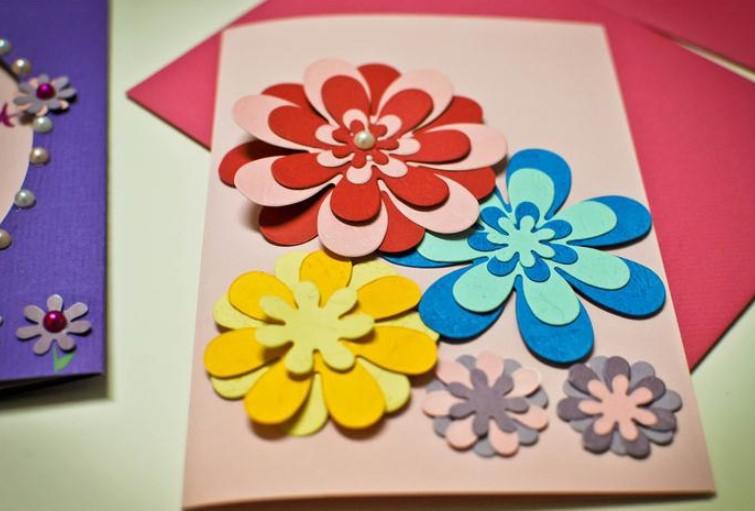 Детские открытки для мамы на день рождения