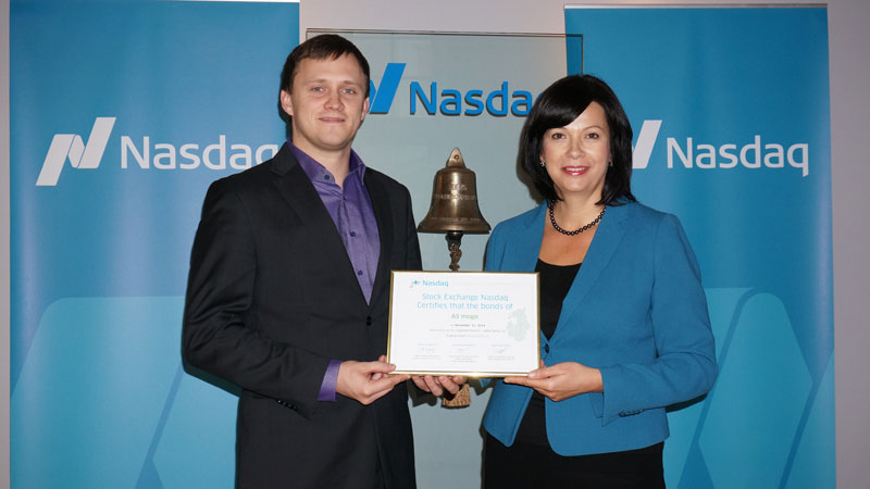 Marcis Grinis, Member of the Board at AS mogo Daiga Auzina-Melalksne, Head of Exchange Services at Nasdaq OMX Baltic Market