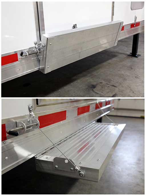 kitchen inventory wall rack trailer options - door accessories- mo great dane trailers