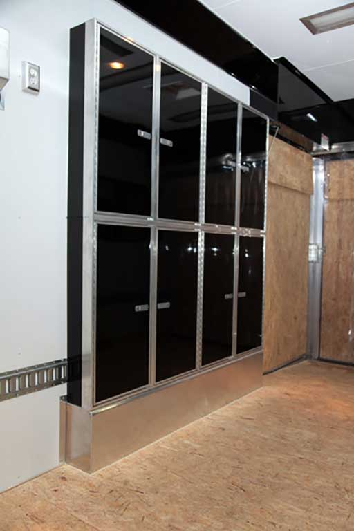 kitchen cabinet sizes lighting over island trailer options - cabinets & storage- mo great dane trailers