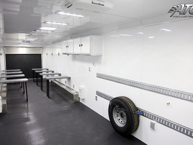 commercial kitchen cabinets outdoor refrigerator mobile classroom training trailers | mo great dane