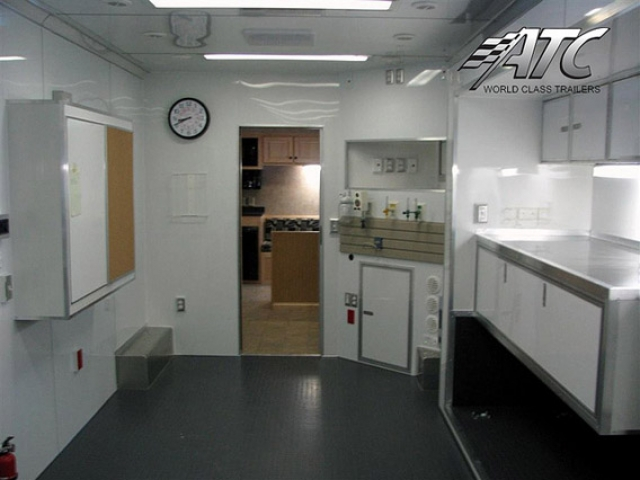 kitchen trailers island back panel mobile medical clinic laboratory trailer | mo great dane ...