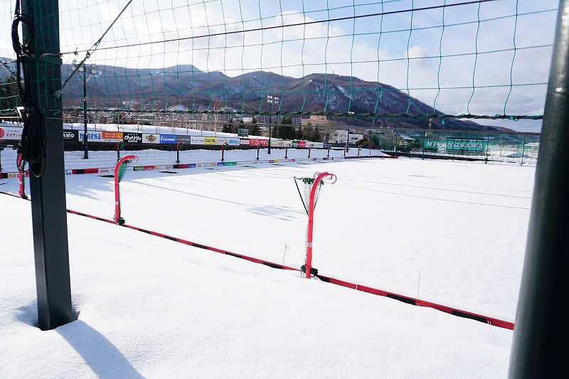 白い恋人パークに隣接するコンサドーレ札幌の練習場