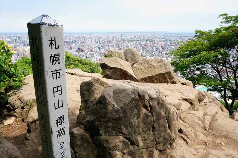 円山山頂から眺める札幌市内