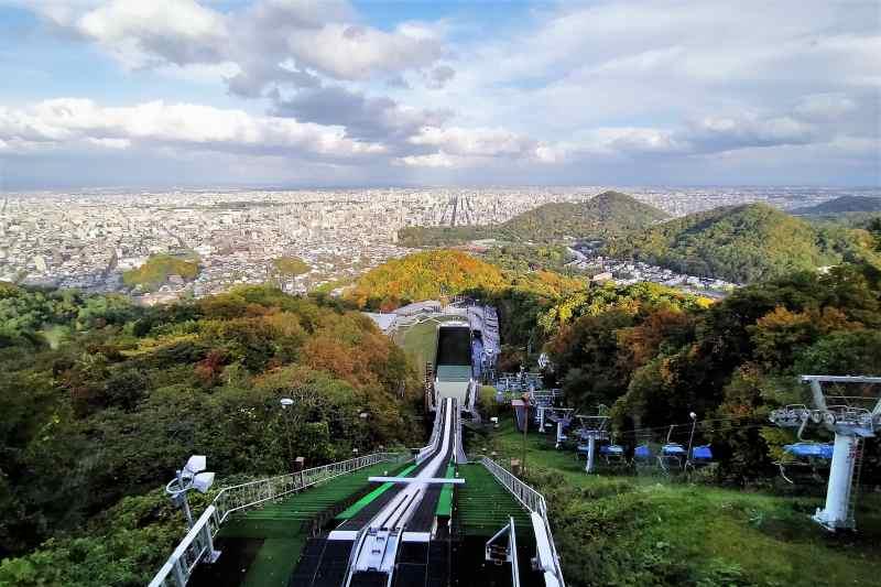 大倉山展望台からの景色