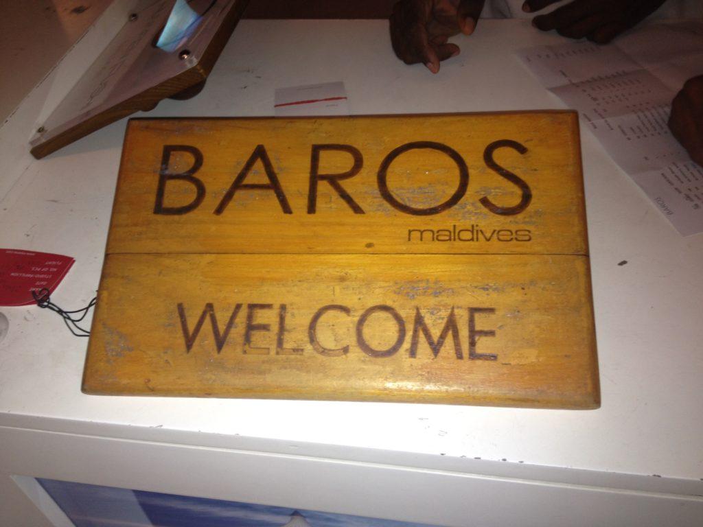 モルディブ バロス 到着