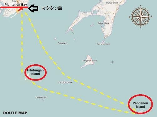 セブ島子連れ家族でアイランドツアー_マップ