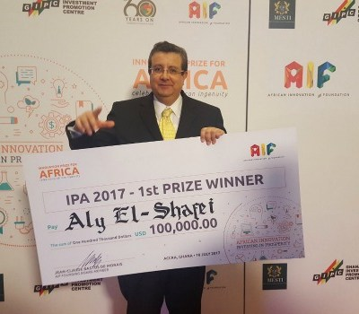 African innovators - Egyptian innovator Aly El-Shafei wins $100, 000 Innovation Prize for Africa. Photo Twitter