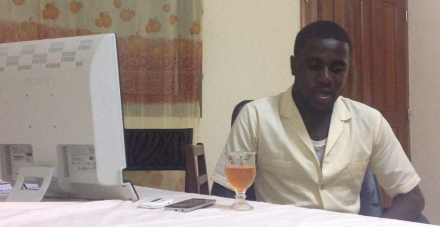 Nges Njungle is the Cameroonian computer engineering student who built Muzikol. Photo - YouTube