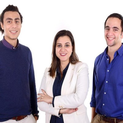 The team behind Harmonica, one of the Egyptian startups selected for the 500 Startups accelerator. Photo - MENABytes
