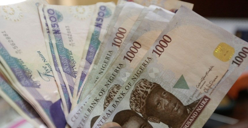 Nigerian naira currency at a bureau de change, in Lagos, Nigeria. Photo - AP - Sunday Alamba