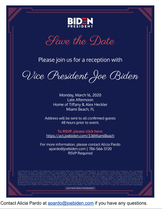 Join Us for a Reception for Vice President Joe Biden - jmartin moguldom com - Moguldom Media Group Mail