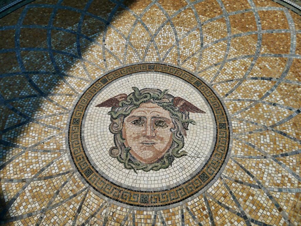 Untermyer Gardens medusa mosaic