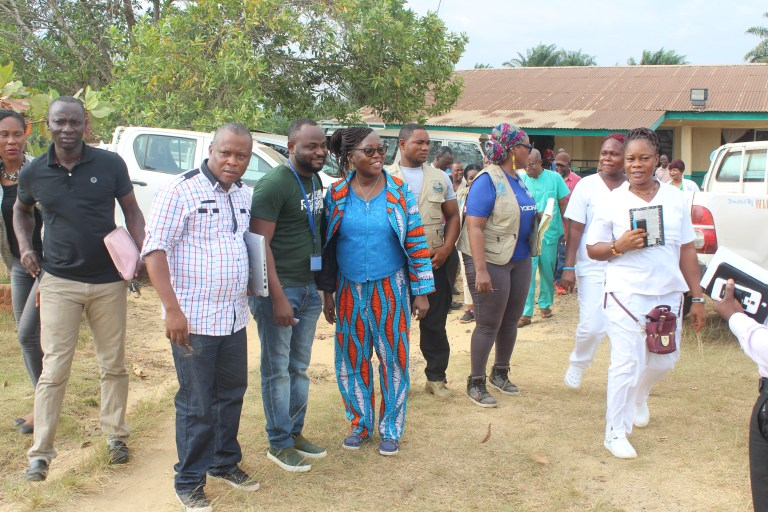 After Health Team meeting in Bomi County