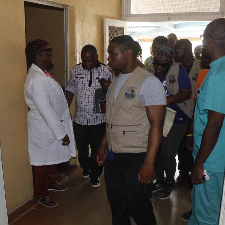Health Minister Touring Bomi County health facility.