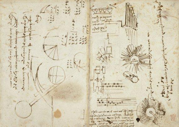 Notebook of Leonardo - British Library Prints Source of Image: http://prints.bl.uk/art/406575/notebook-of-leonardo-da-vinci