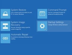 Windows 10 selecting startup settings
