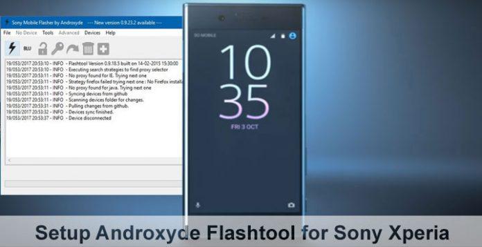 [شرح] تثبيت آداة Androxyde FlashTool   لسوفتوير لأجهزة Sony Xperia