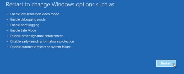 restart to change options