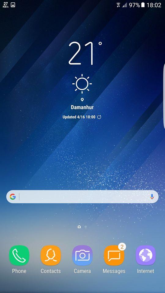 Galaxy-S8 Home Screen