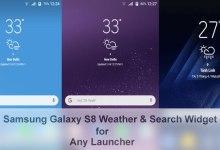 Galaxy S8 widgets search bar