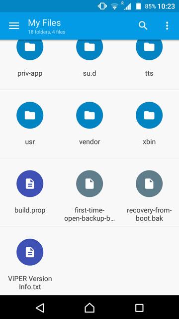 Solid Explorer build.prop file