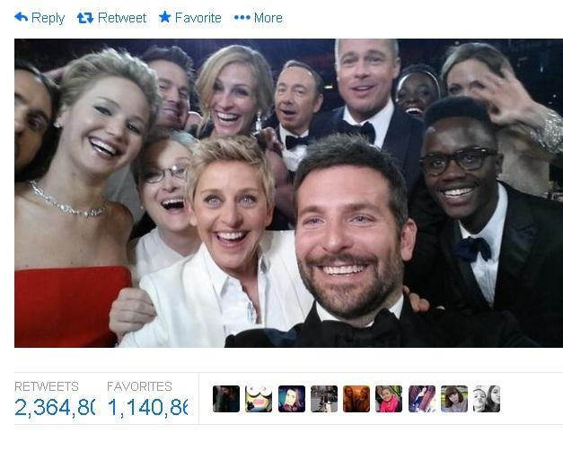 bradley cooper oscar selfie